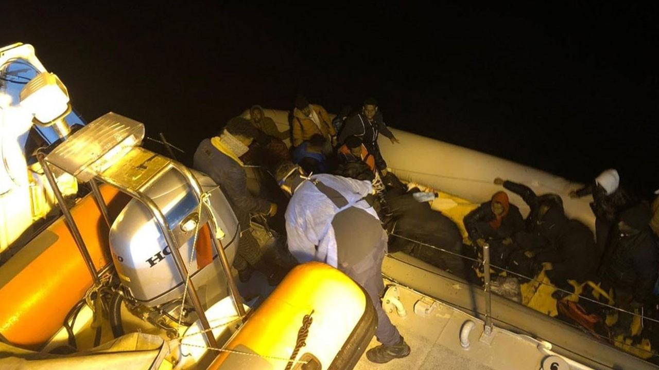 64 düzensiz göçmen Türk ekiplerince kurtarıldı