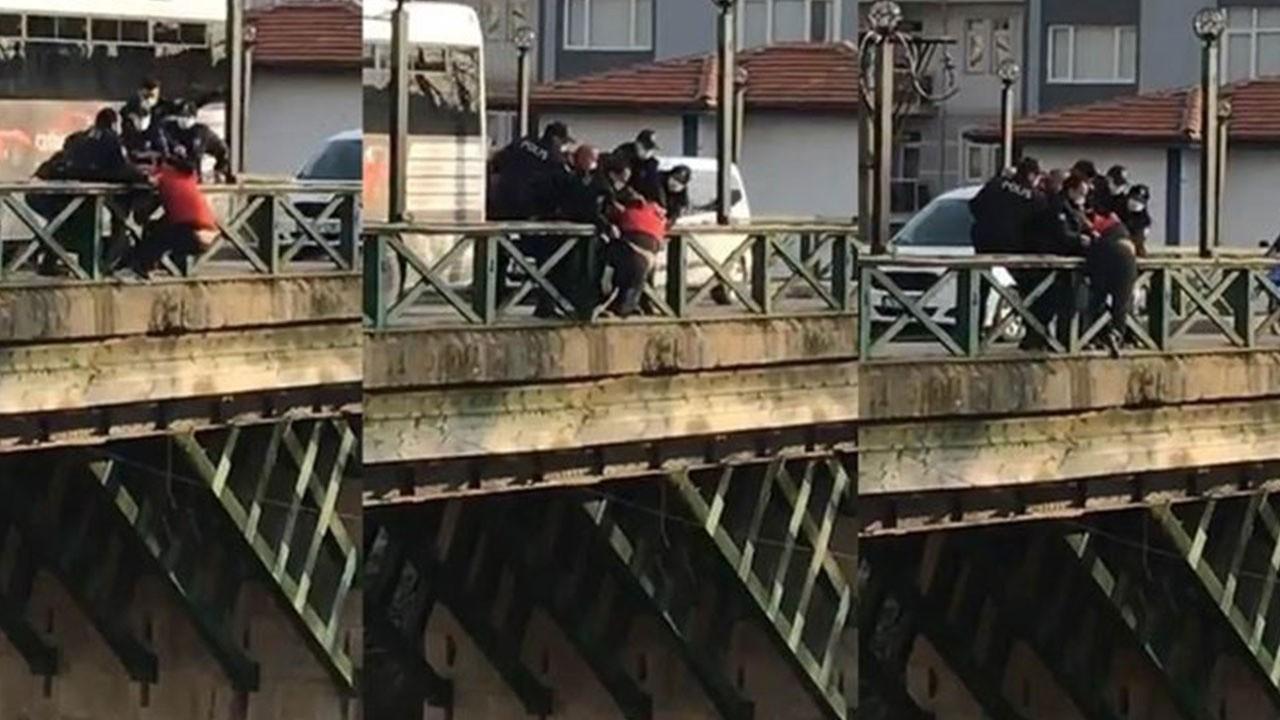 Atlamak için çıktı! Polisler son anda kurtardı