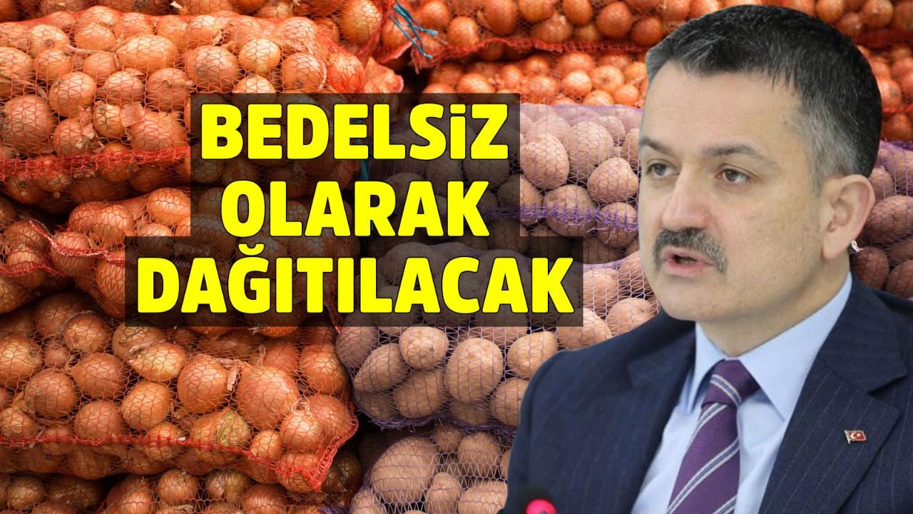 İhtiyaç sahibine patates ve soğan