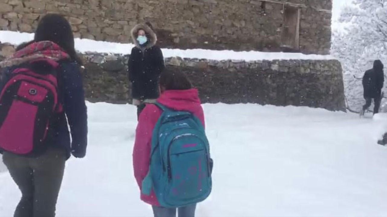 Yüz yüze eğitime kar engeli!