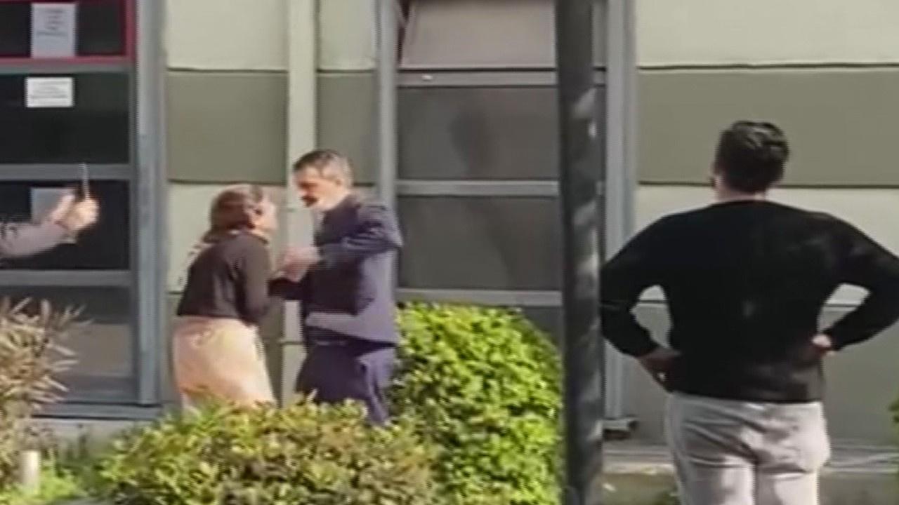Boşanma aşamasında olduğu eşini rehin aldı