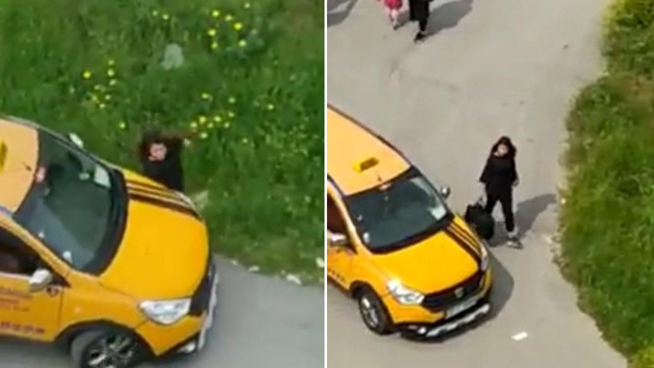 Yol ortasında taksici dehşeti!