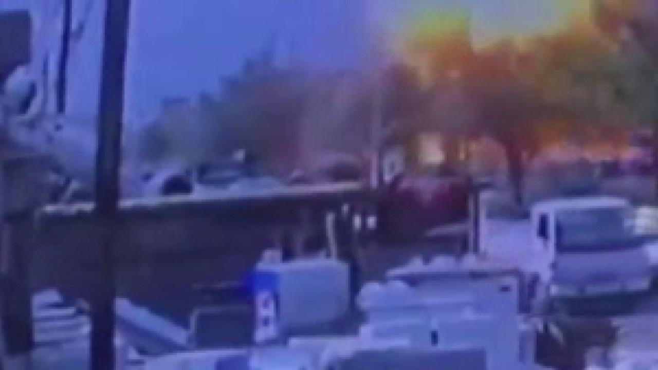 Bomba yüklü aracın patlama anına ait görüntüler