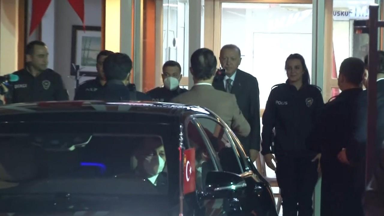 Erdoğan Çengelköy Polis Merkezi'nde iftar yaptı