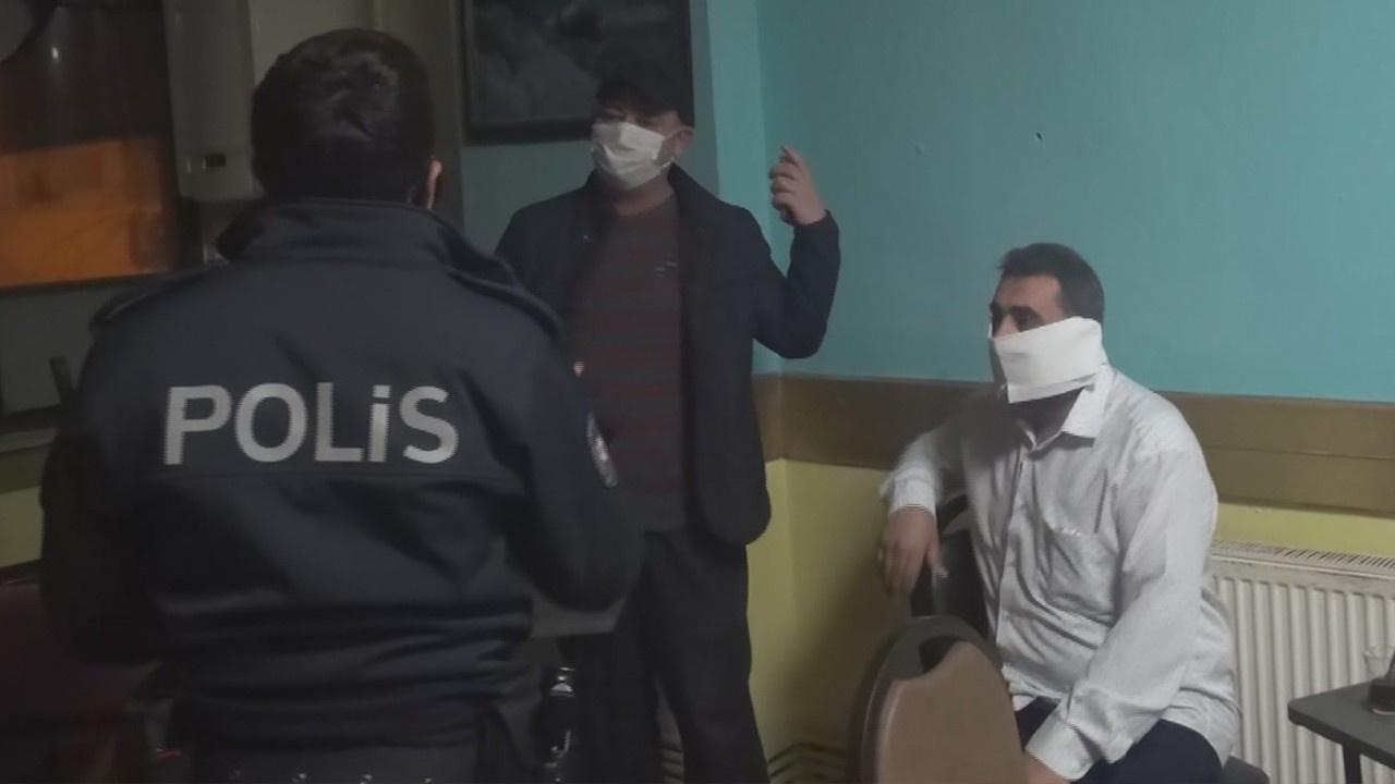 Baskında yakalanınca tuvalet kağıdını maske yaptı