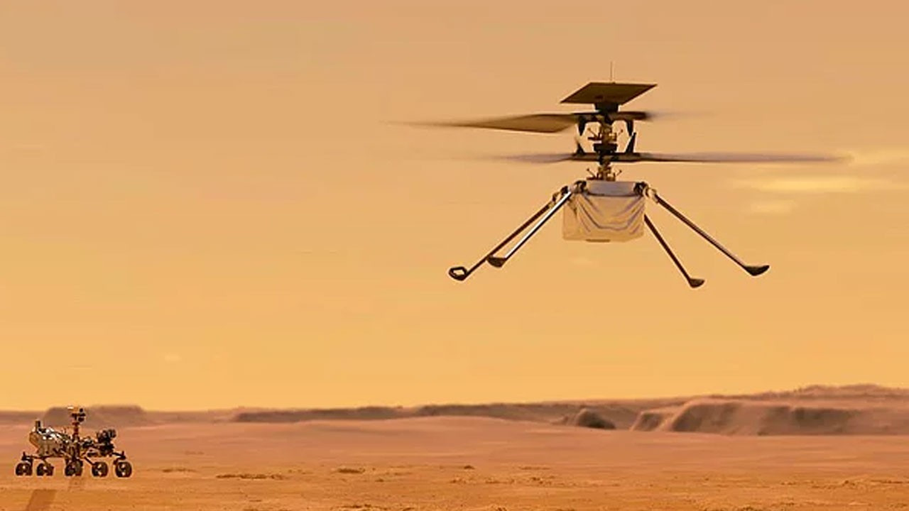 Mars'taki helikopter Ingenuity ilk kez uçurdu