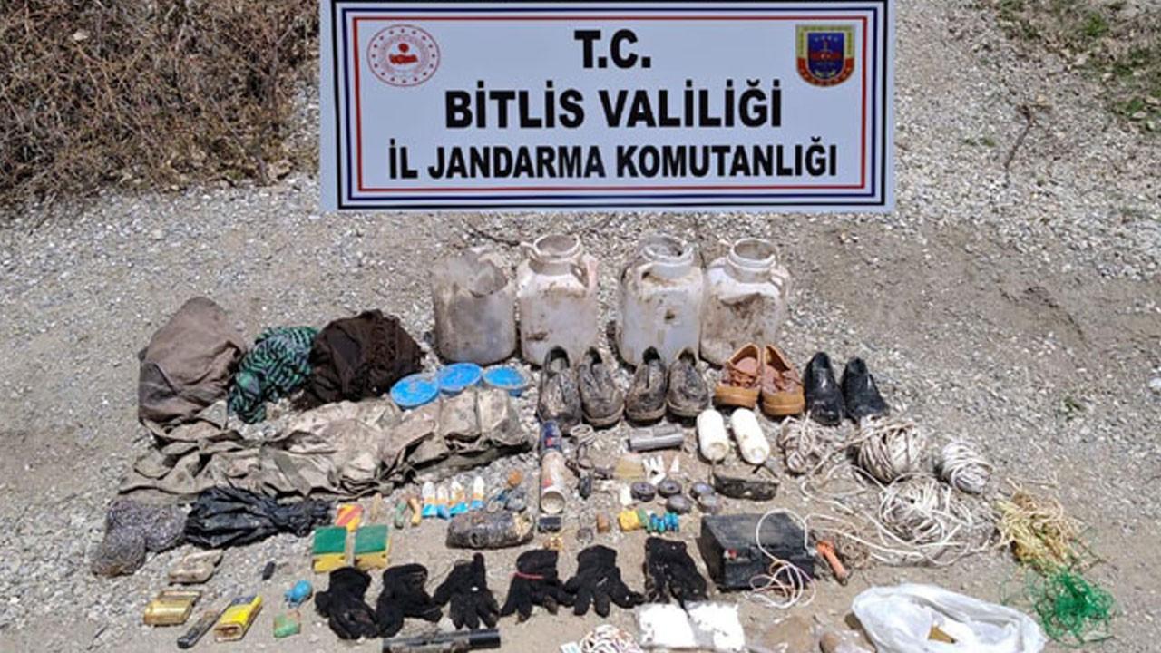 PKK'ya ait 500 gram TNT ve yaşam malzemesi bulundu