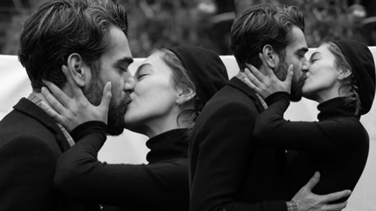 Neslihan Atagül, eşiyle öpüştüğü pozunu paylaştı!