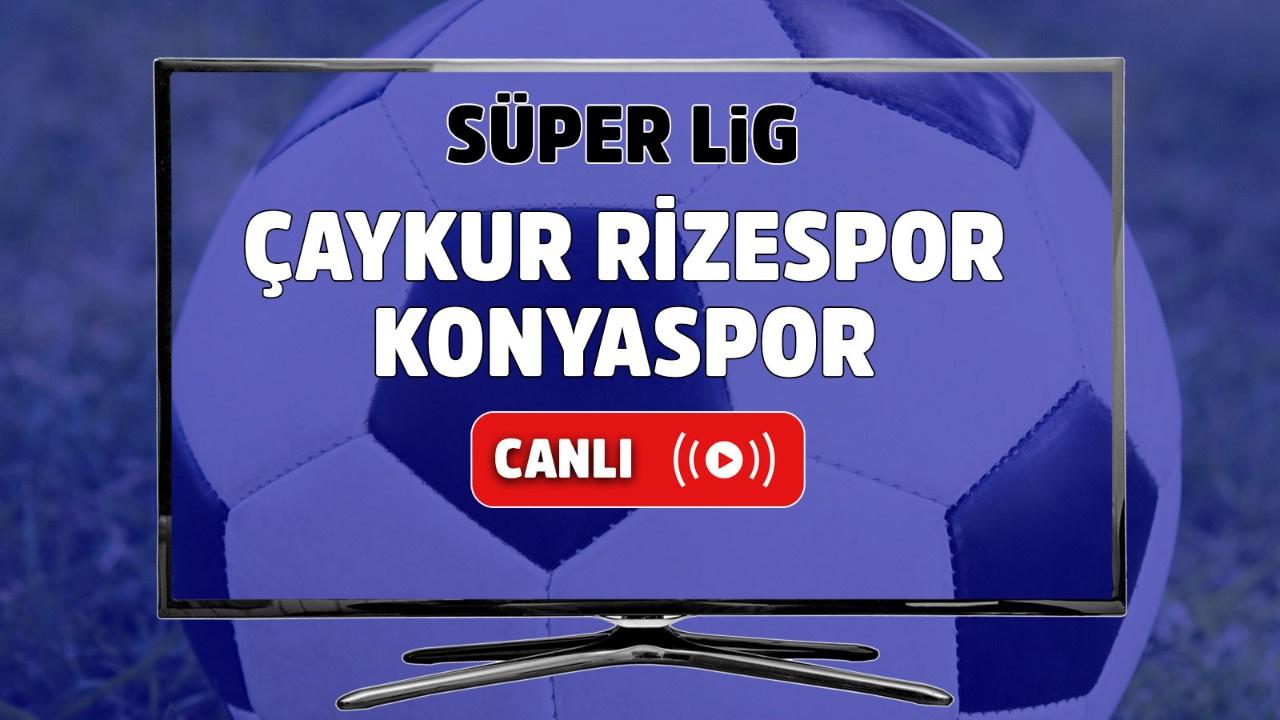 Çaykur Rizespor – Konyaspor Canlı
