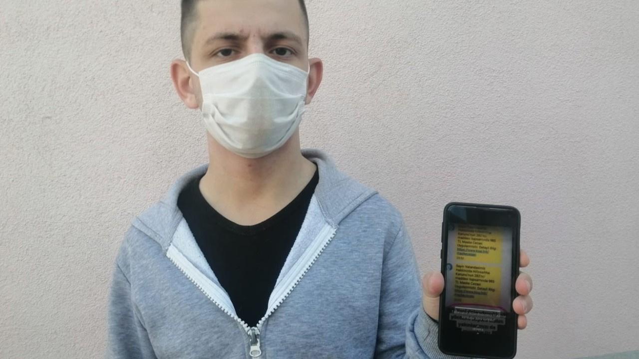 'Sahte maske cezası' mesajıyla dolandırdılar