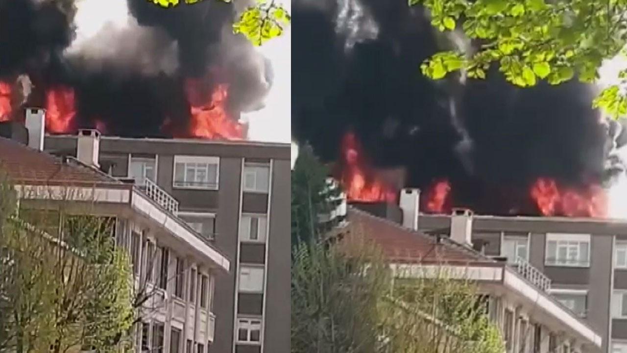 Bağcılar'da 6 katli binada korkutan yangın!