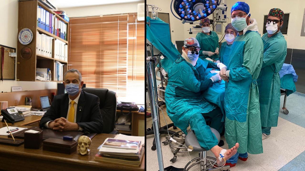 Ameliyatta fenalaşan doktor ayağına serum taktırdı