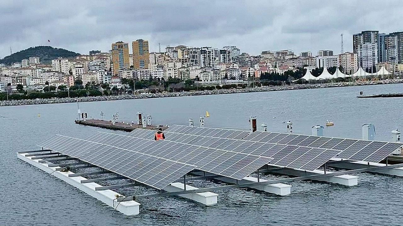 Görücüye çıktı! İşte yerli yüzer güneş santrali...