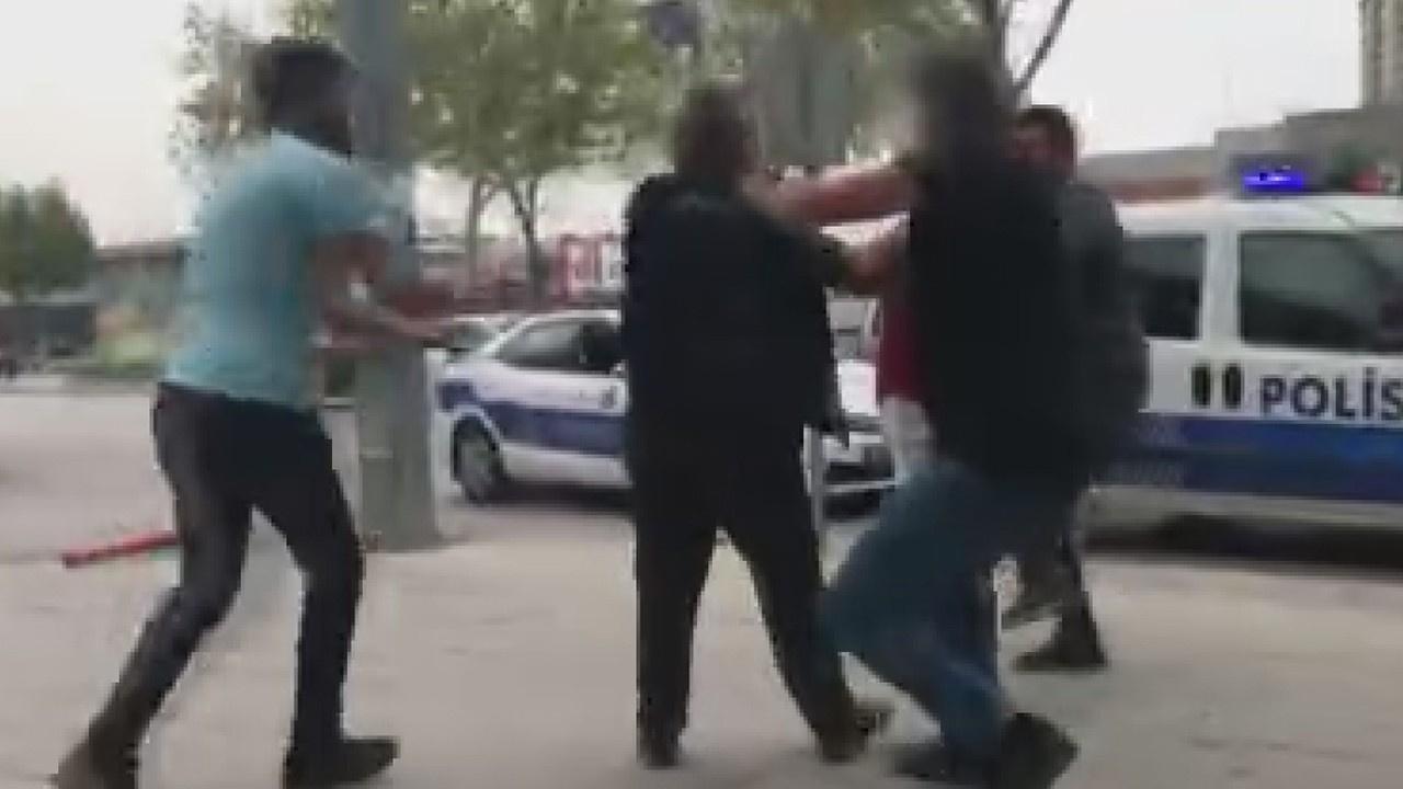 Trafik tartışması bıçaklı, sopalı kavgaya dönüştü!
