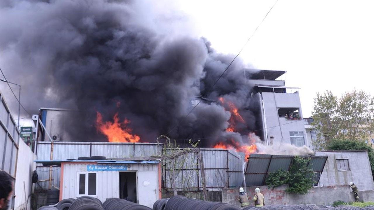Eyüpsultan'da balıkçı deposunda yangın
