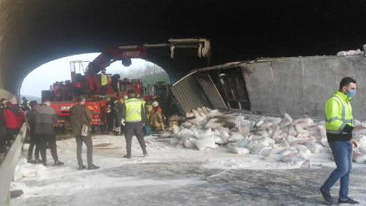 Kuzey Marmara Otoyolu'nda feci kaza