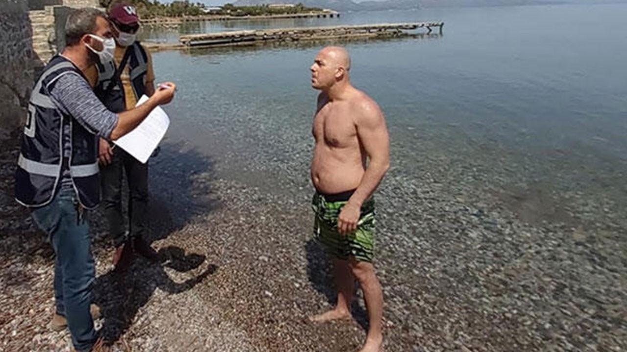 Bahanesi hayrete düşürdü! Denizde yakalandı...