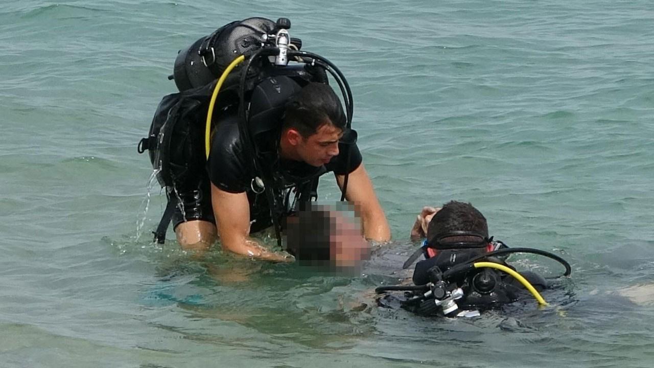 Denize dalan turist dehşeti yaşadı