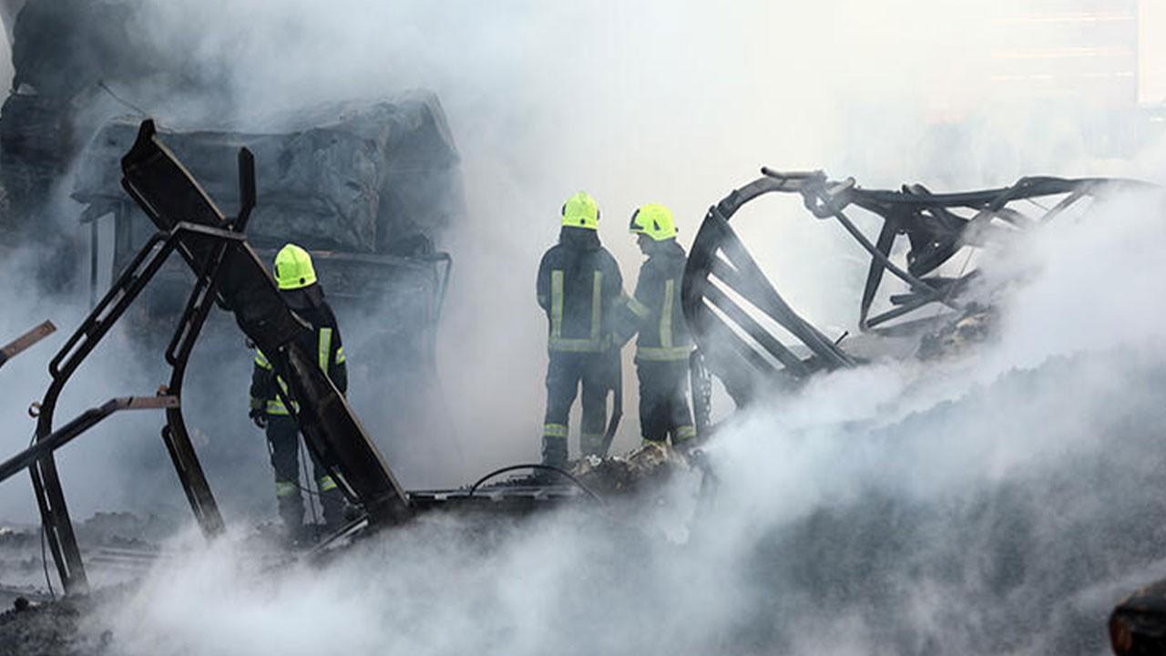 Petrol istasyonu yandı: 10 ölü