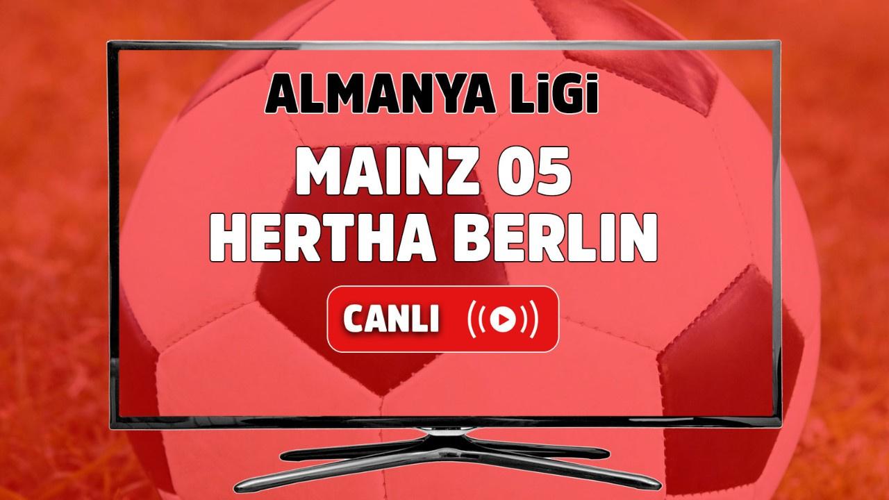 Mainz 05 – Hertha Berlin Canlı