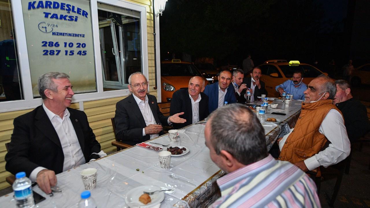 Kılıçdaroğlu ve Yavaş taksicilerle iftarda buluştu