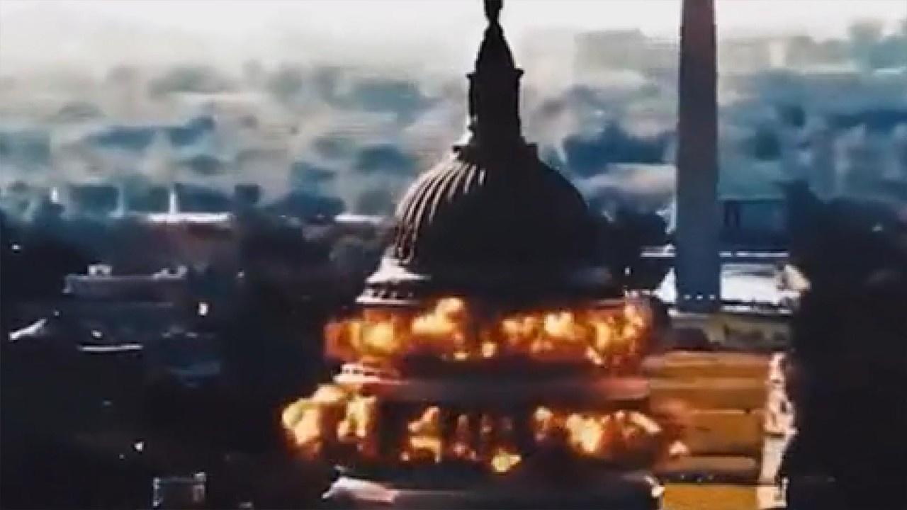 'ABD Kongre Binası' havaya uçuruldu