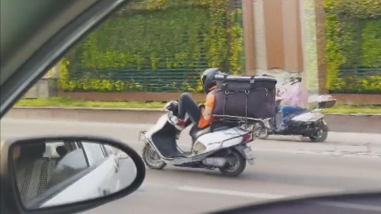 Kuryenin tehlikeli yolculuğu!