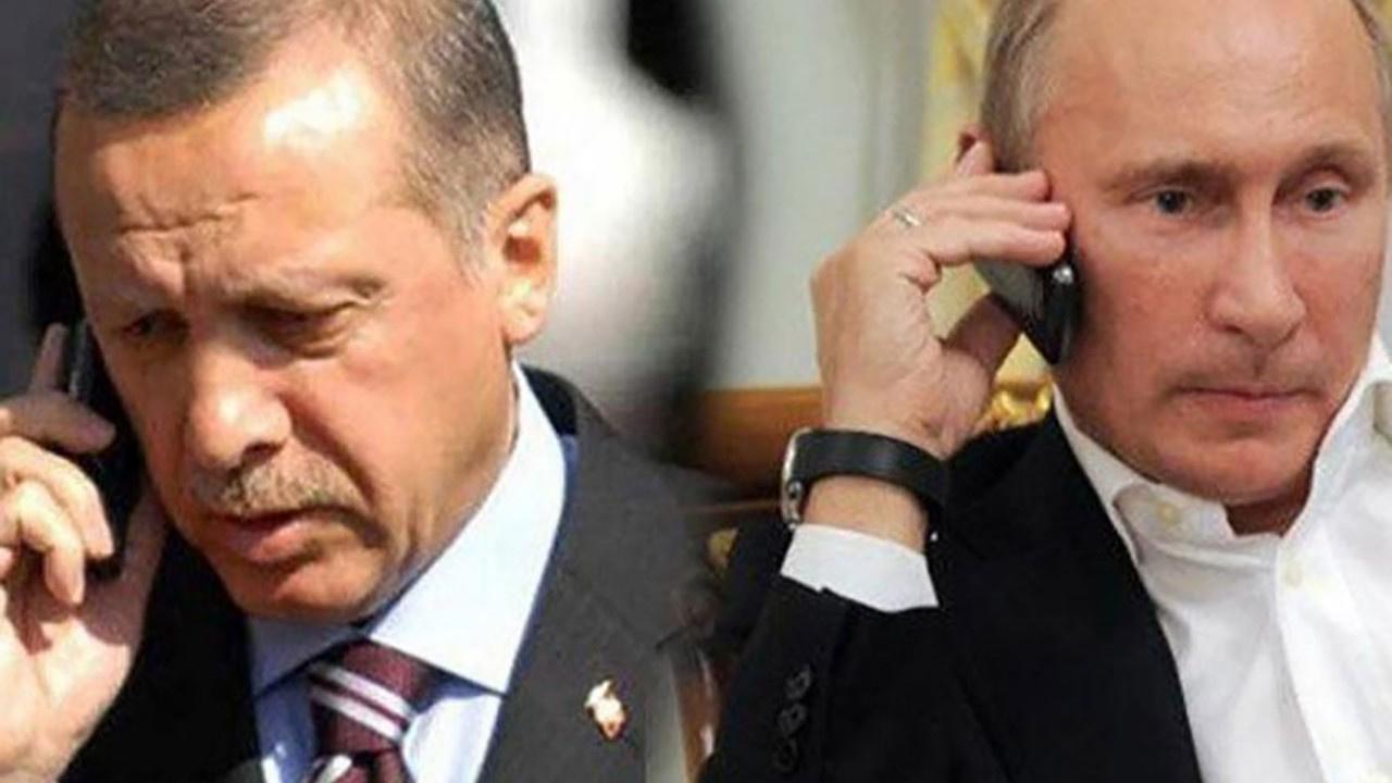 Erdoğan ve Putin arasında kritik İsrail telefonu