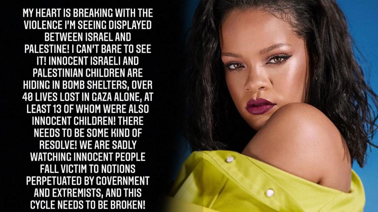 Rihanna katliam karşısında sessiz kalmadı!