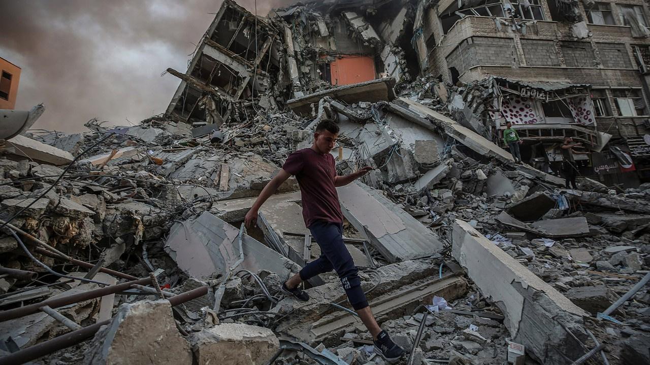 Gazze'de yıkım görüntülendi