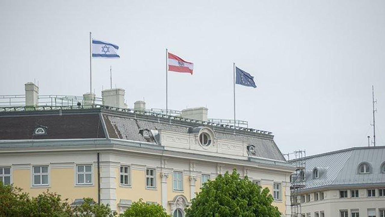 Avusturya, İsrail bayrağı çekti!