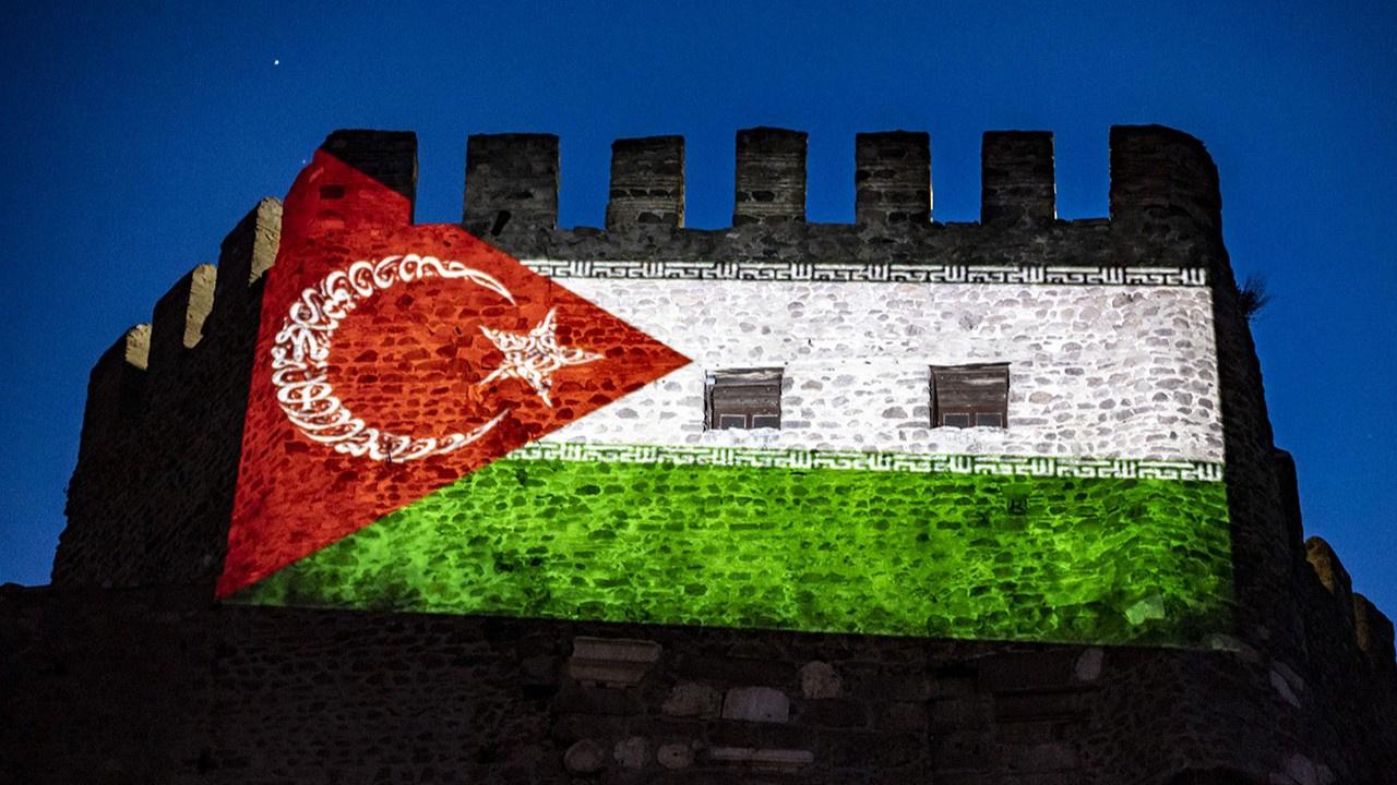 Ankara Kalesi, Filistin'e destek için ışıklandırıl