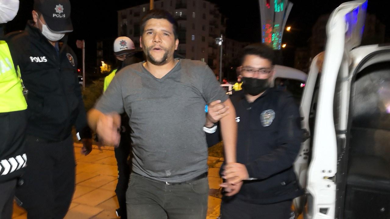 Polise hakaret etti! Basına saldırdı!