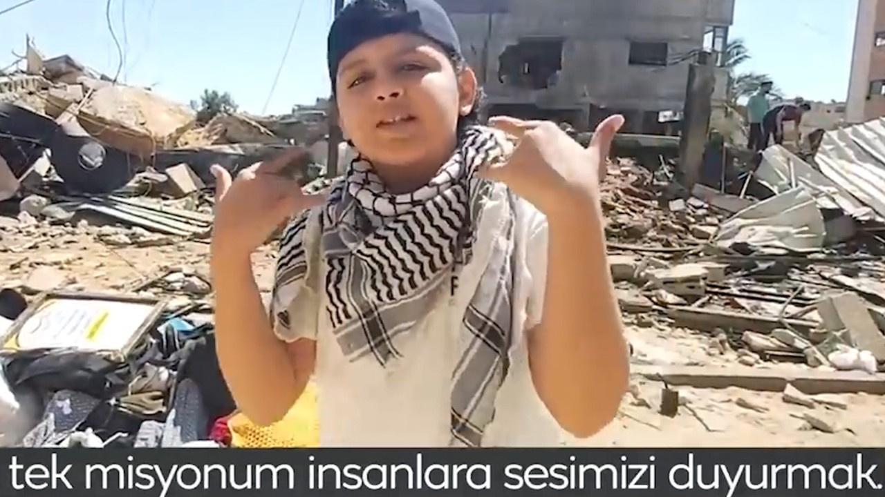 Filistinli çocuk dünyaya rap yaparak haykırdı