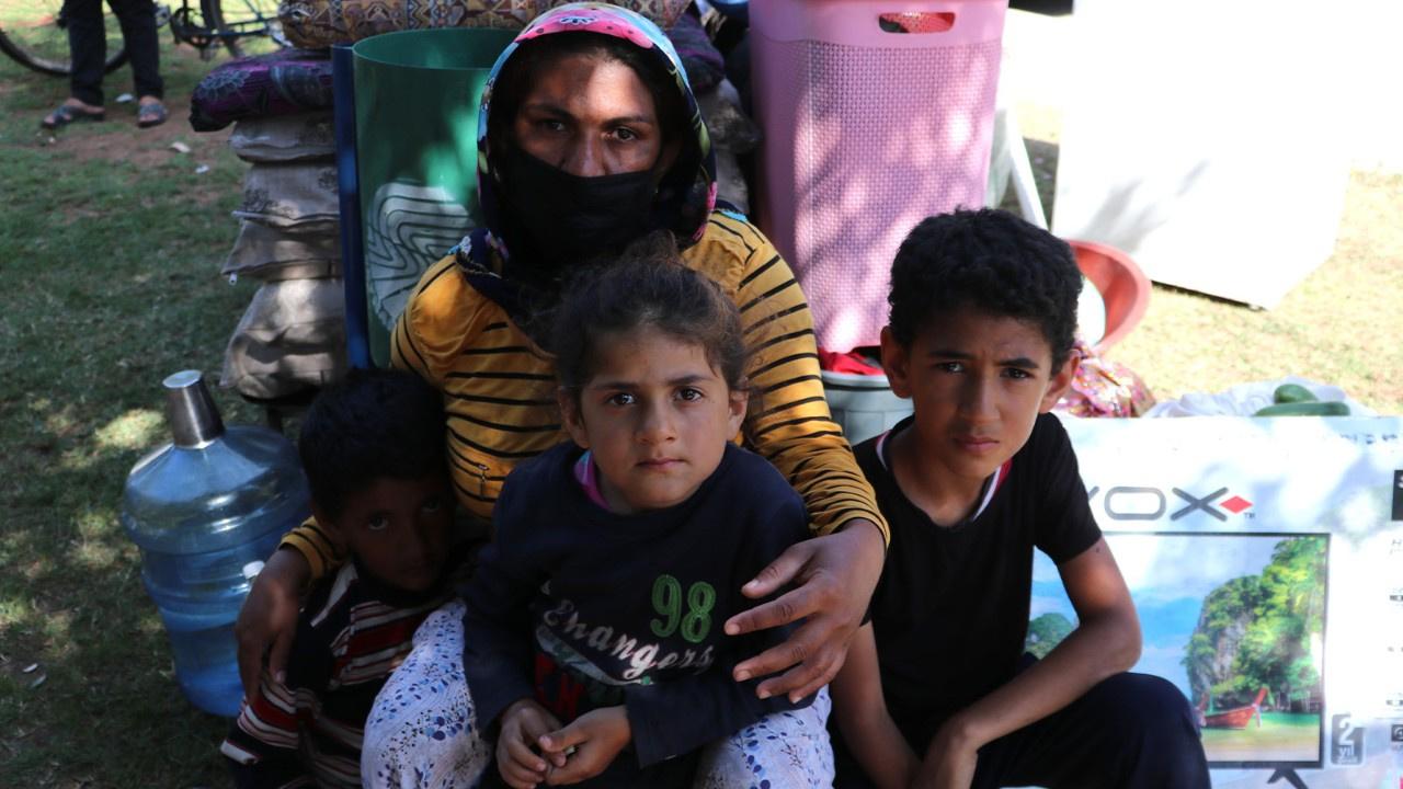 Kirasını ödeyemeyen 4 çocuklu kadın sokağa atıldı