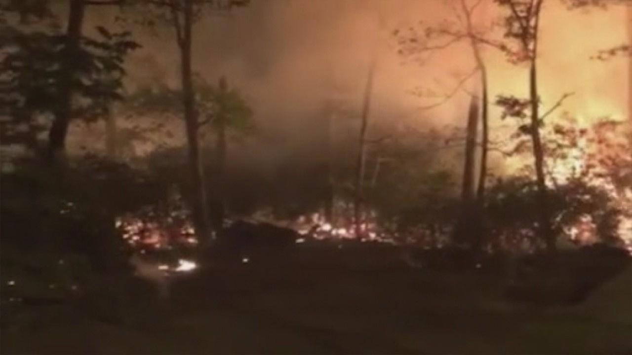 ABD'de iki farklı noktada orman yangını!