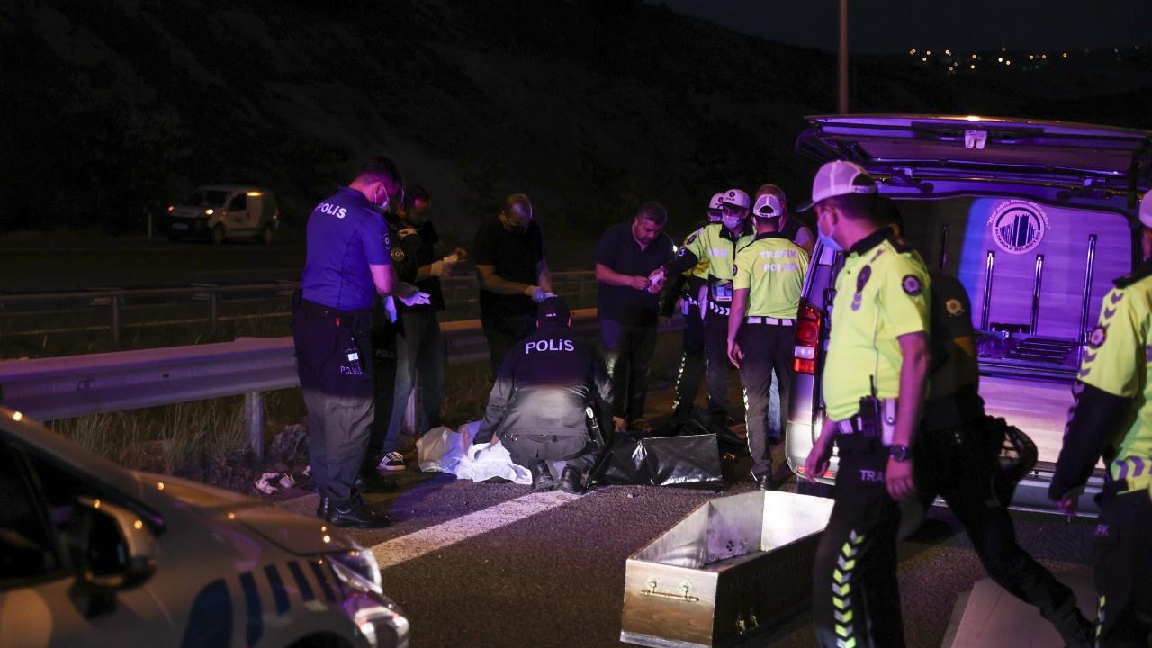 Başkentte feci kaza.. Motosiklet devrildi, iki ölü