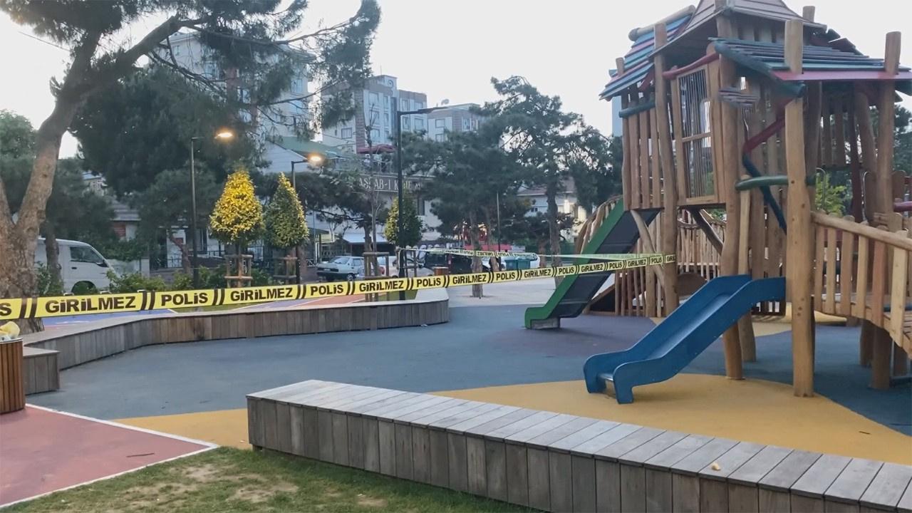 Çocuk parkında dehşet anları!