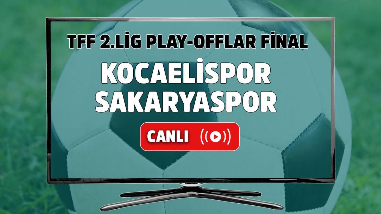 Kocaelispor – Sakaryaspor Canlı