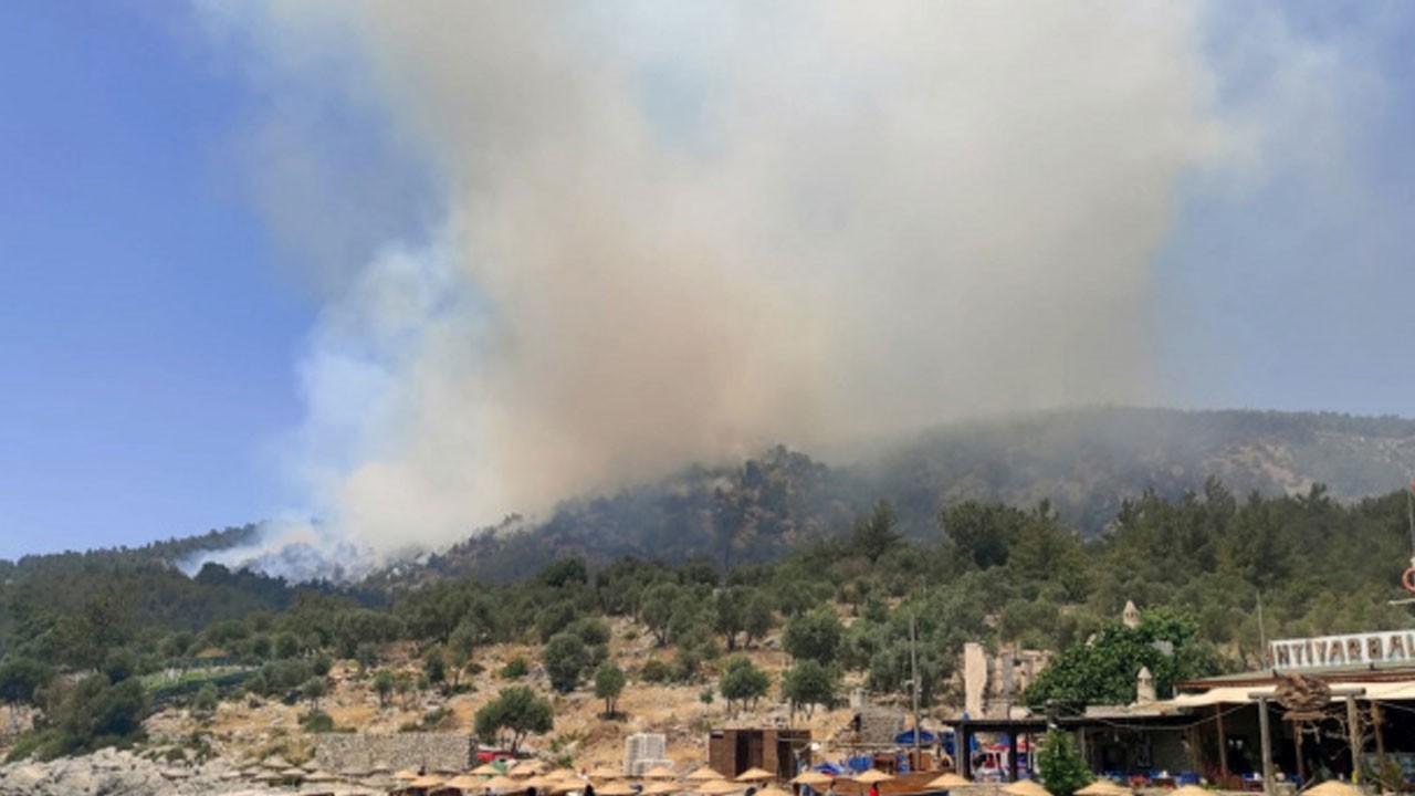 Muğla'daki orman yangını büyüyor