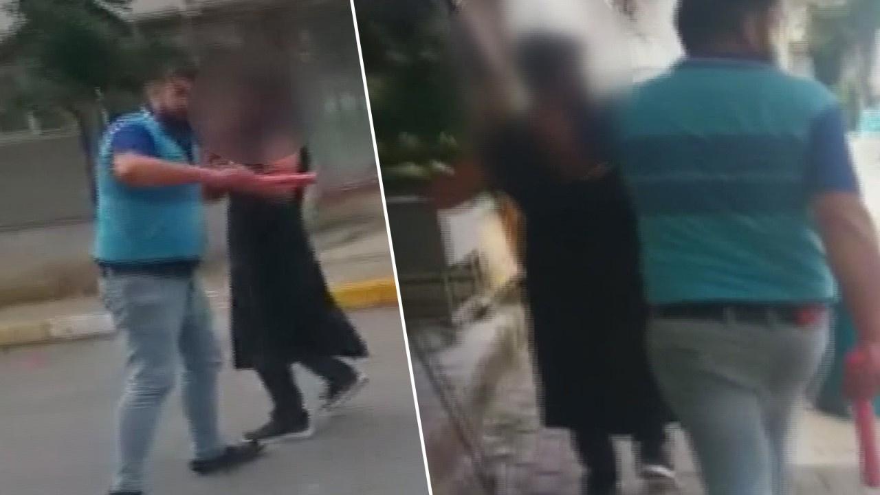Sokaktakadın kıyafetiyle gezdirdi! Sopayla dövdü!