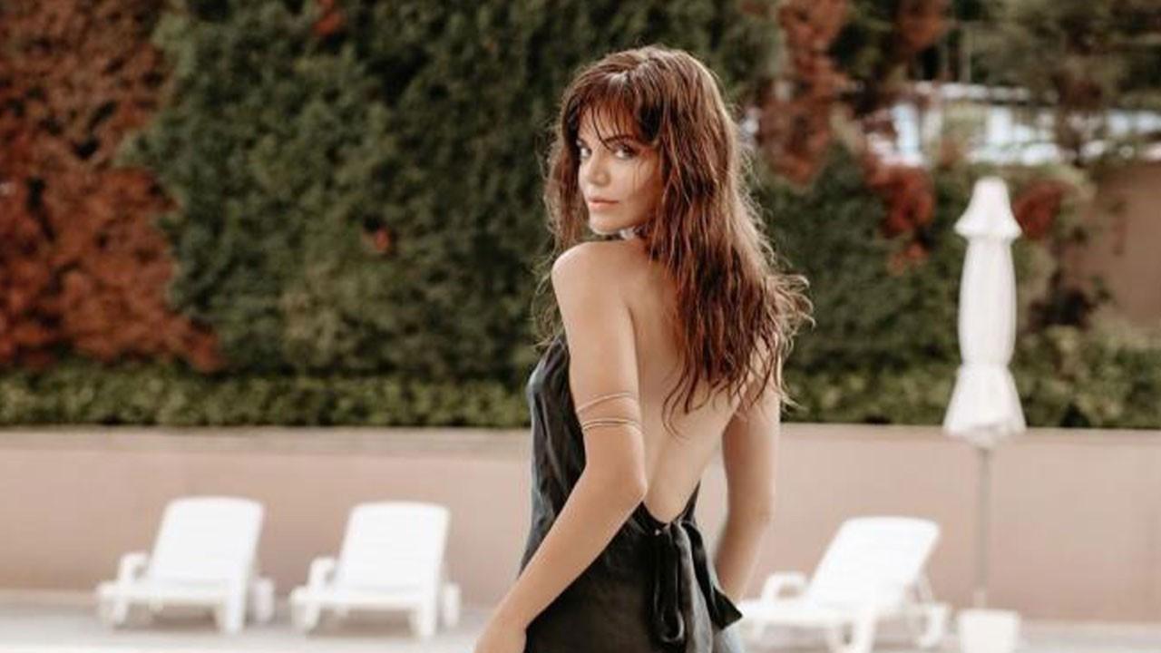Hilal Altınbilek siyah bikinisi ile mest etti!