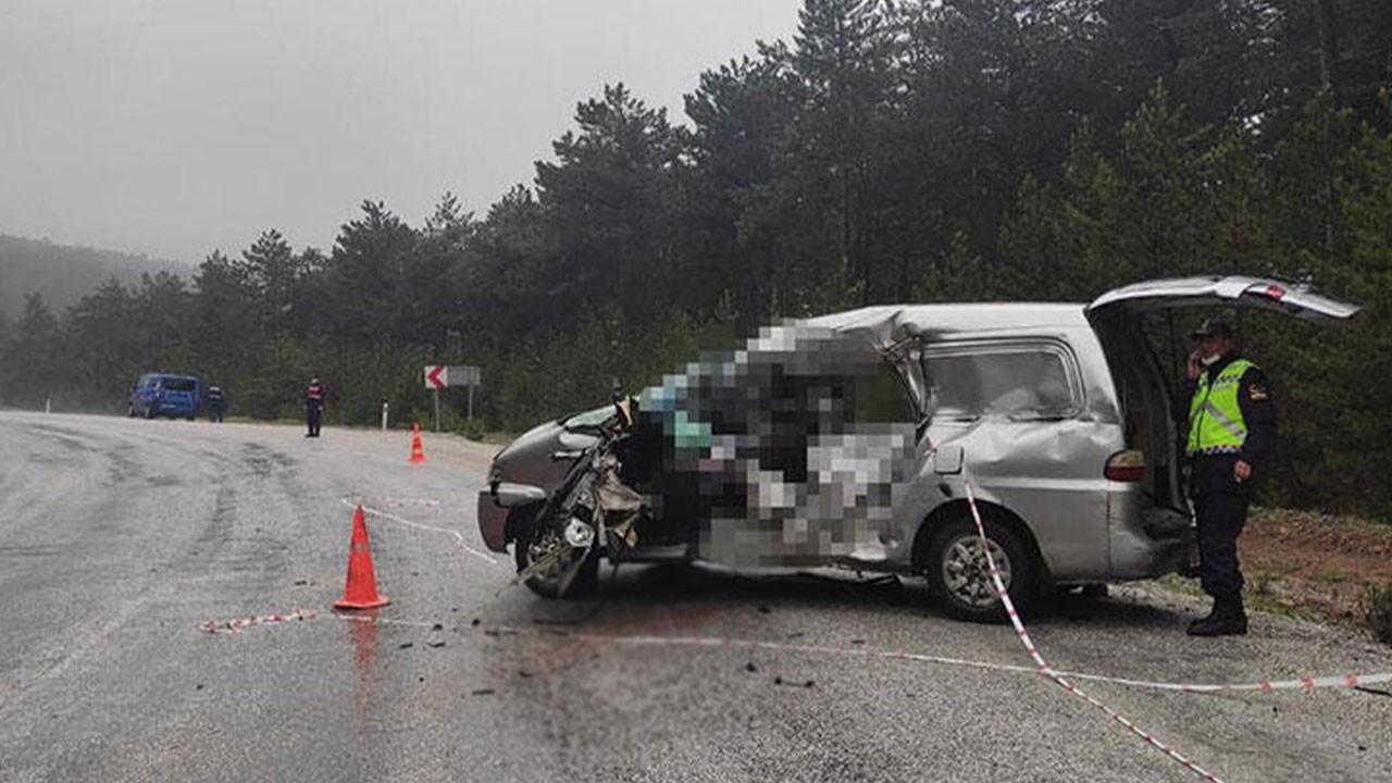 Kütahya'da korkunç kaza!