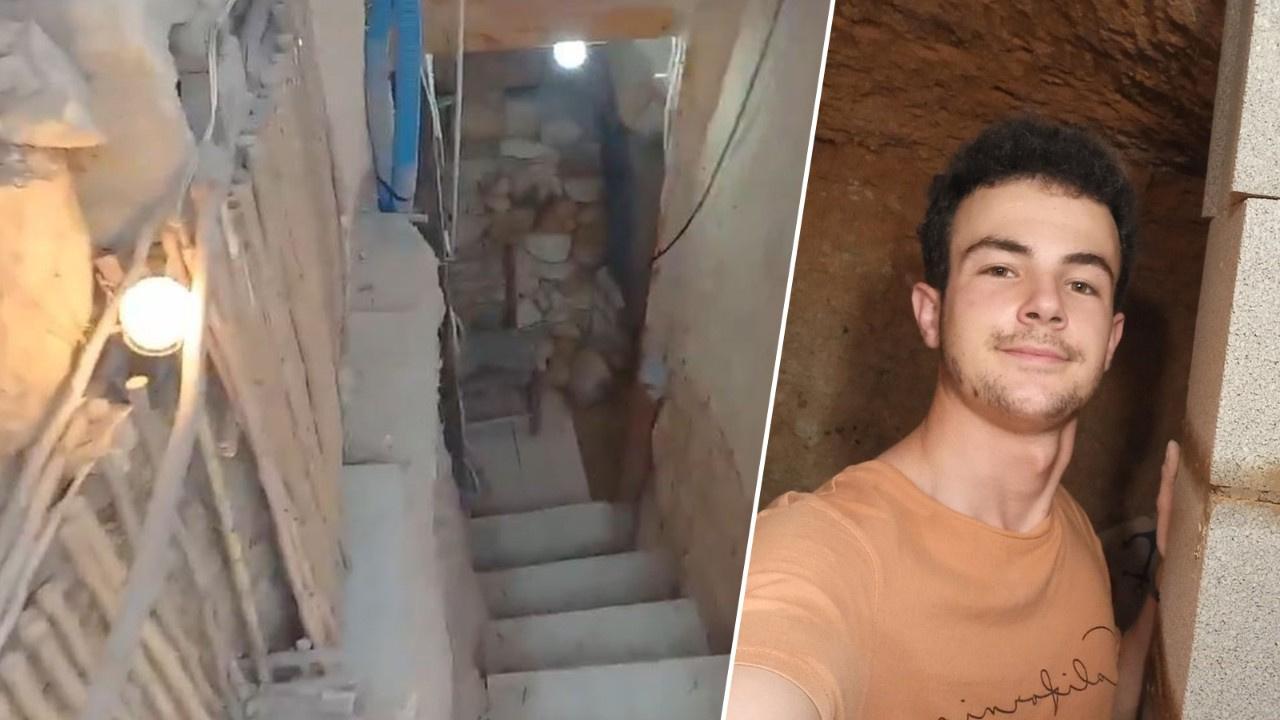 Ailesine kızıp yeraltında kendine ev kazdı