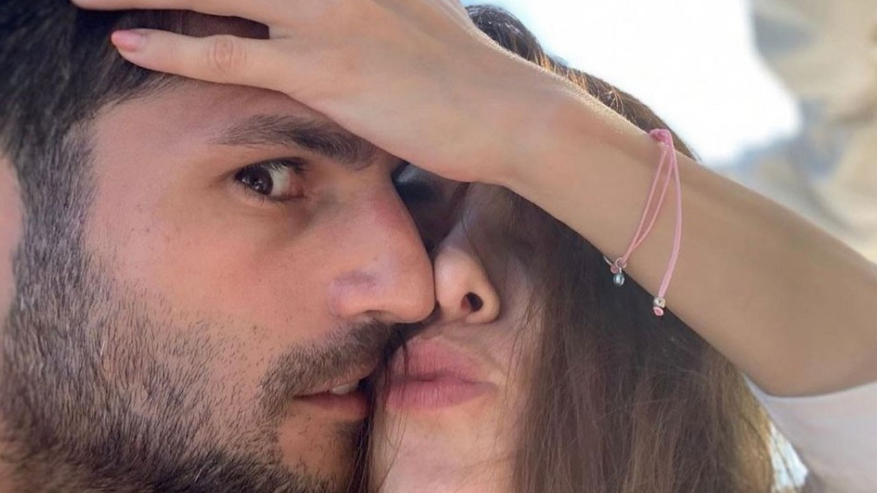 Özge Gürel'den Serkan Çayoğlu'na romantik kutlama