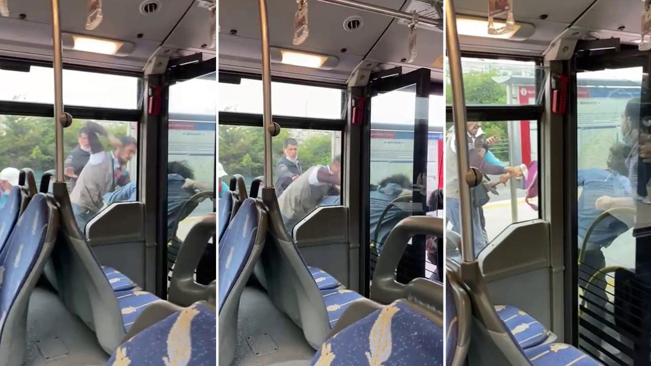 Metrobüste korku dolu anlar!
