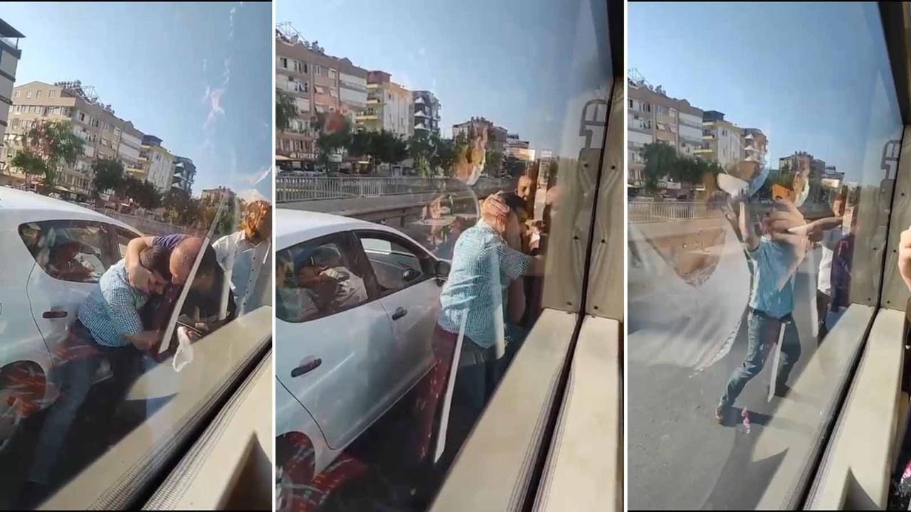 Yolcu otobüsü şoförüne paspaslı saldırı