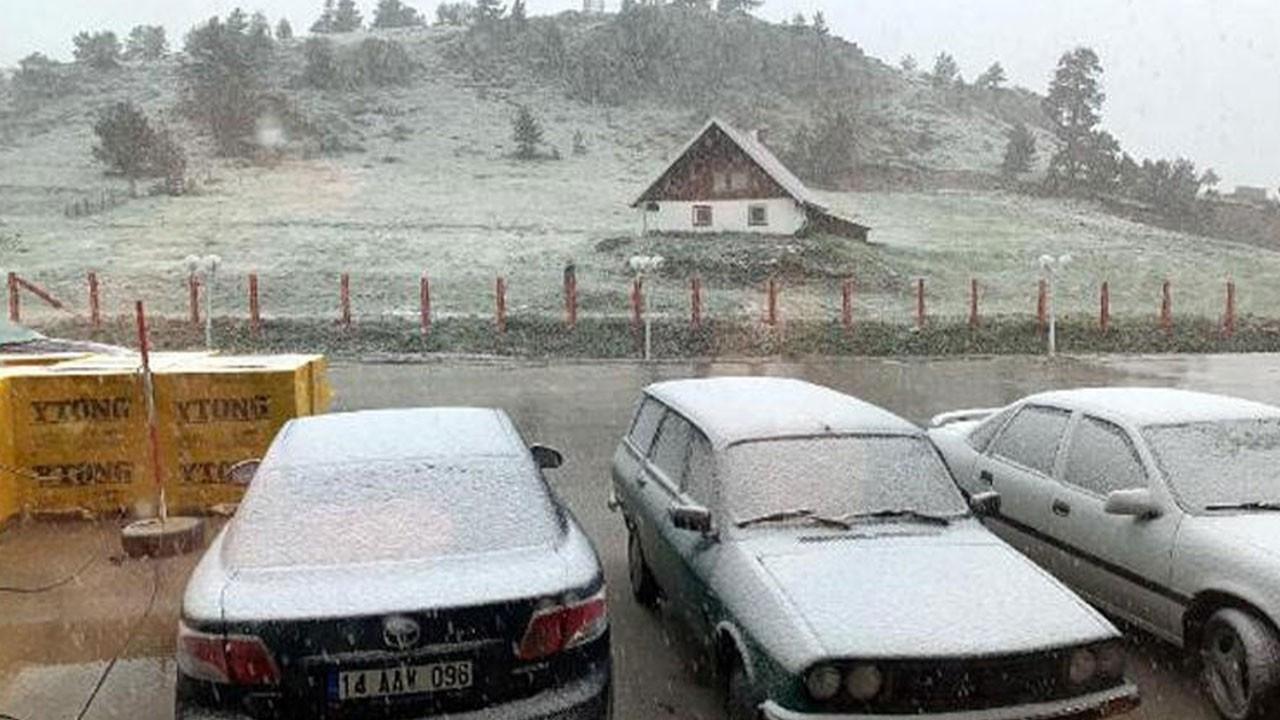 O ilimizde haziran karı! Her yer beyaza büründü