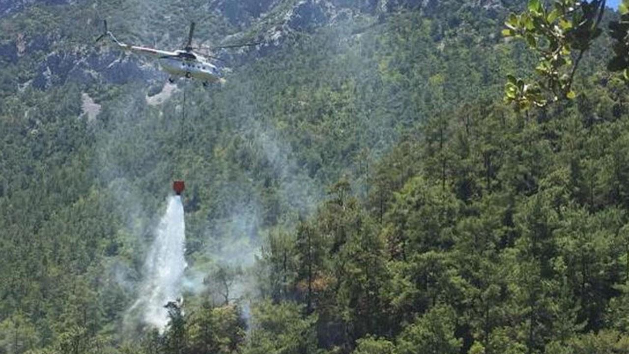 Datça'da orman yangını! 2 saatte söndürüldü