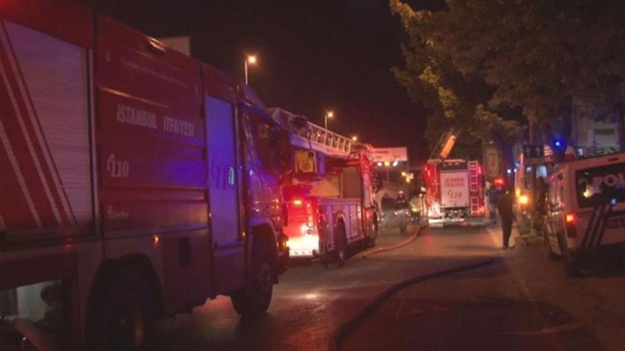 7 katlı metruk bina alev alev yandı